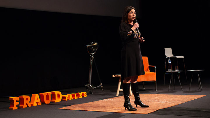 Christina Fiscella during FRAUDtalks 2018