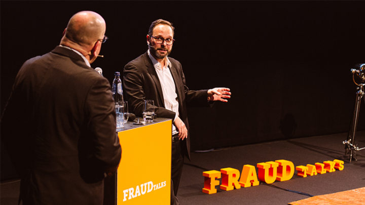 Nicolas Michellod and Fred Teeven at FRAUDtalks